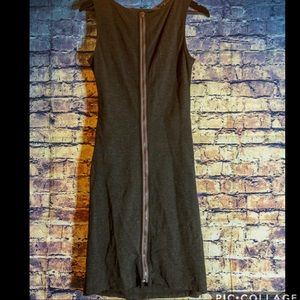 Kenneth Cole NY fitted dress size 8 Grey/zipper